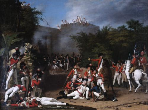 The Death of Colonel Moorhouse at the Storming of the Pettah Gate of Bangalore, Robert Home